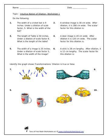 dilations worksheet five pack math worksheets land. Black Bedroom Furniture Sets. Home Design Ideas