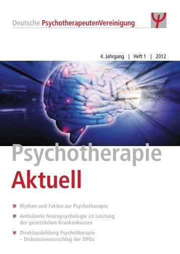 Psychotherapie Aktuell 01/2012 - DPtV