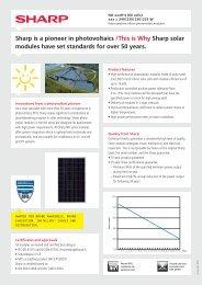 Datasheet solar panel SHARP ND-235R1J, ND-240R1J ...