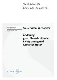 Saurer Areal WerkZwei Änderung ... - Stadt Arbon