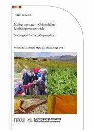 Kultur og natur i Grimsdalen landskapsvernområde ... - NIKU
