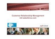 Customer Relationship Management mit salesforce.com