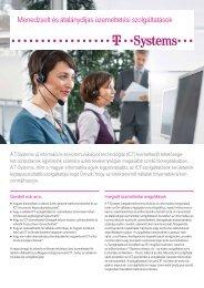 Menedzselt és átalánydíjas üzemeltetési szolgáltatások - T-Systems