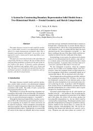 A System for Constructing Boundary Representation ... - CiteSeerX