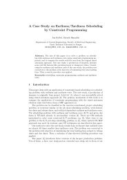A Case Study on Earliness/Tardiness Scheduling by Constraint ...