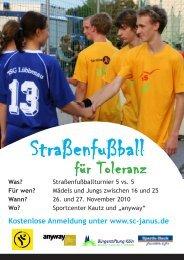 Straßenfußball - Schule der Vielfalt