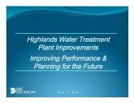 Highlands Water Treatment Plant Improvements Improving ...