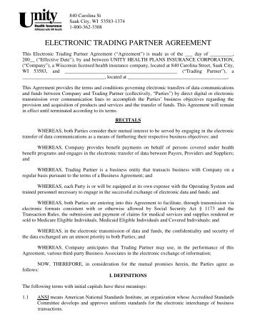 Appendix To Agreement For Use Of Electronic Trading Fish Pool