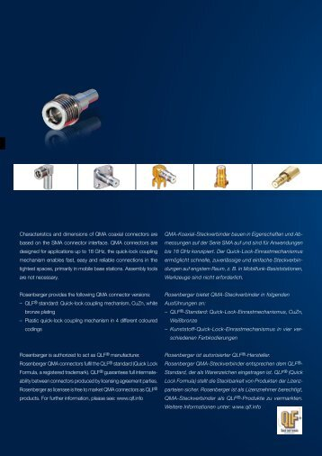 QMA-Koaxial-Steckverbinder bauen in ... - Rosenberger