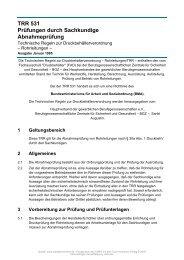 TRR 531 Prüfungen durch Sachkundige Abnahmeprüfung