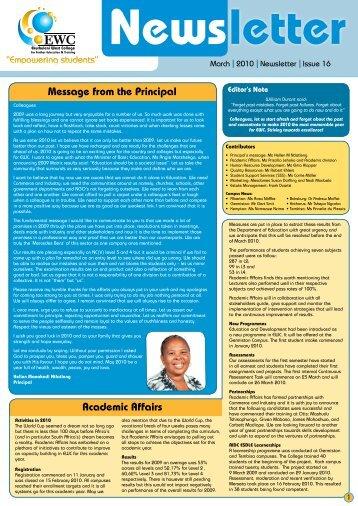 Issue 16 - Ekurhuleni West College