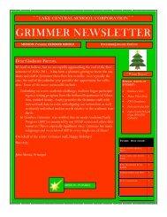 GRIMMER NEWSLETTER - Grimmer Middle School - Lake Central ...