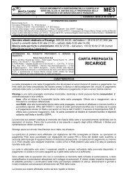 Carta prepagata Ricarige - Gruppo Banca Carige