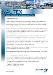 Reinigung und Pflege von Bootsverdeckstoffen - Sattler AG