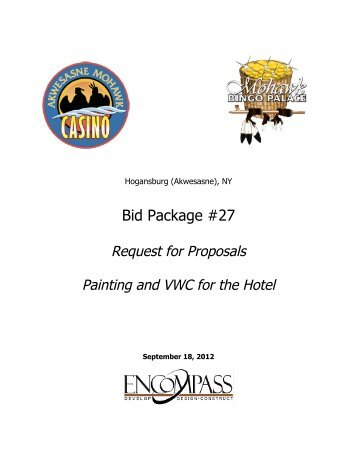 Painting and VWC for Hotel - Saint Regis Mohawk Tribe