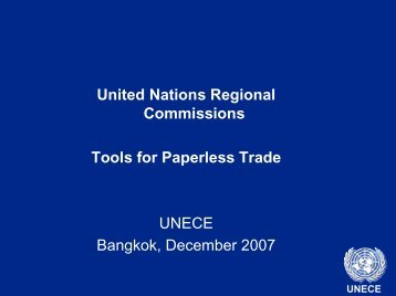 United Nations Electronic Trade - escap