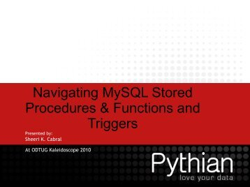 Navigating MySQL Stored Procedures & Functions and Triggers
