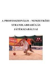 a professzionális - nemzetközi strandlabdarúgás játékszabályai