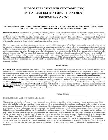 prk initial & retreatment informed consent - Braverman Eye Center