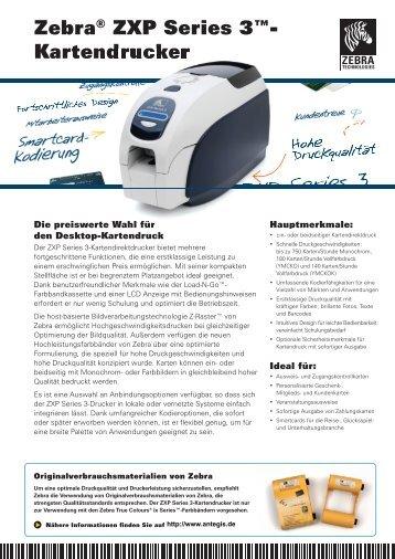 Zebra® ZXP Series 3™- Kartendrucker - ANTEGIS GmbH