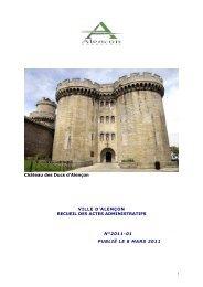 Recueil n°2011-01 publié le 8 mars 2011 - Alençon