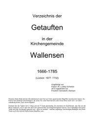 KB Wallensen Getaufte 1666-1785 - Hege-elze.de