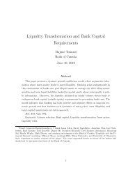 Liquidity Transformation and Bank Capital Requirements