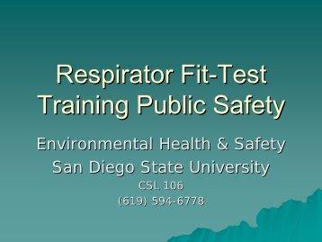 Respirator Fit-Test Training Public Safety - San Diego State University