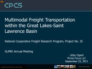 Multimodal Freight Transportation Planning Within the Great Lakes