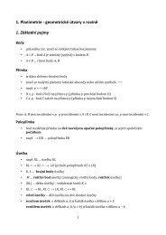 1. Planimetrie - geometrické útvary v rovině 1. Základní pojmy