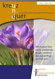 Ausgabe 2/2013 - Ev.-luth. Kirchengemeinde Meinersen