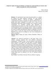 Adoção do regime de metas de inflação e as funções de reação dos ...