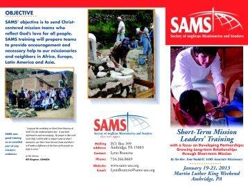 SAMS 2013 Leadership Training Opportunities [PDF] - Anglican ...