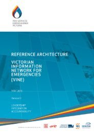 Reference Architecture - The Fire Services Commissioner