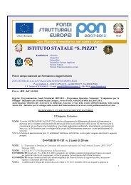 Azione D.4 Bando di reclutamento esperti esterni - Liceo Statale