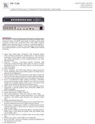 Kramer VP-729 - Audio General Inc.