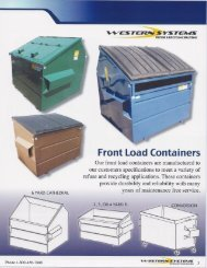 Front Load Containers - Western Systems & Fabrication, Inc.