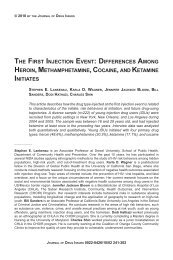 the first injection event - Journal of Drug Issues