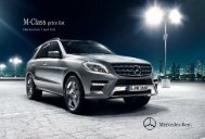 ML 63 AMG Price List May 2012 - Mercedes-Benz (UK)