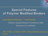 Special Features of Polymer Modified Binders - Petersen Asphalt ...