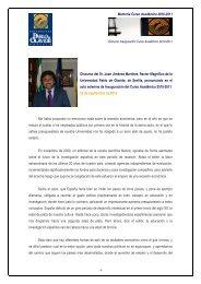 Inauguración Curso Académico 2010-2011 - Universidad Pablo de ...