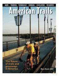 The future of trails and greenways in America The future ... - Atfiles.org