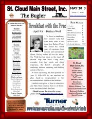 to view our May 2013 Edition of The Bugler! - St. Cloud Main Street