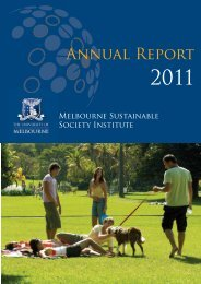 Annual Report - Melbourne Sustainable Society Institute - University ...