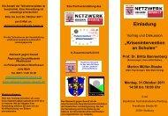 Flyer zum Download - Netzwerk gegen Gewalt