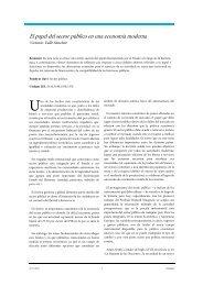 El papel del sector público en una economía moderna - extoikos