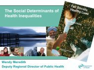 The Social Determinants of Health Inequalities