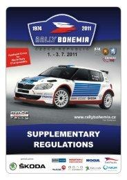 Supplementary Regulations - Rally Bohemia