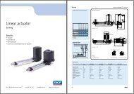 Linear actuator - Electro Mechanical Systems Ltd.