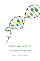 Science vs. religion : what scientists really think - File PDF